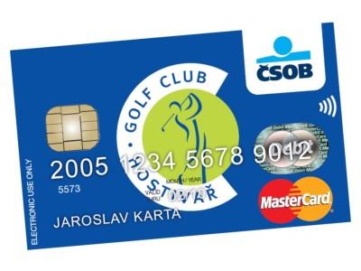 Platební karta Golf Hostivař