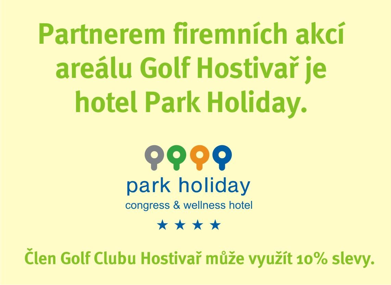 Partnerem firemních akcí areálu Golf Hostivař je hotel Park Holiday